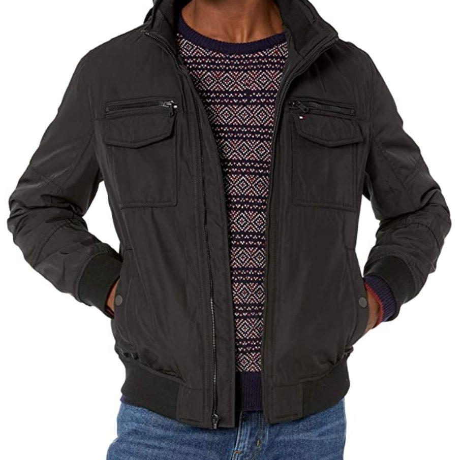 Tommy Hilfiger Men's Four-Pocket Performance Bomber Jacket